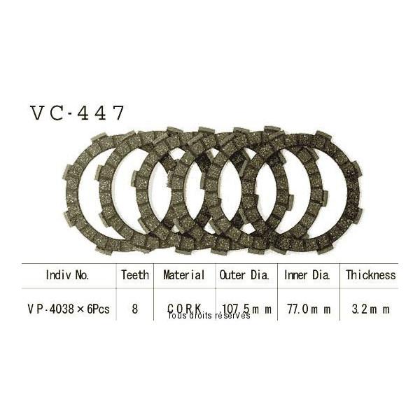 Disques garnis d'embrayage VC447