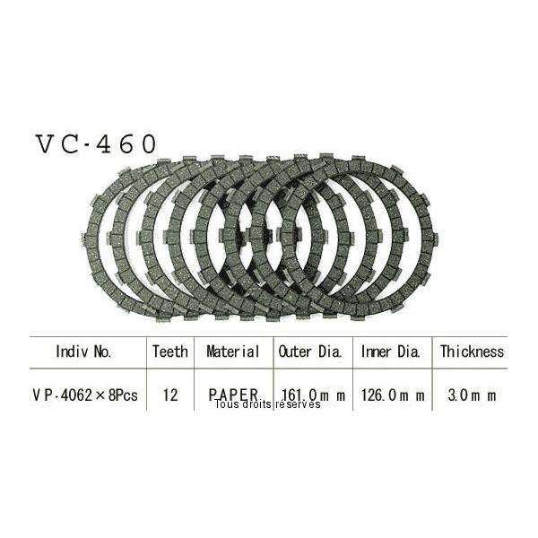 Disques garnis d'embrayage VC460