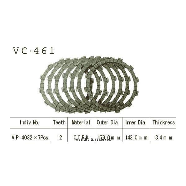 Disques garnis d'embrayage VC461