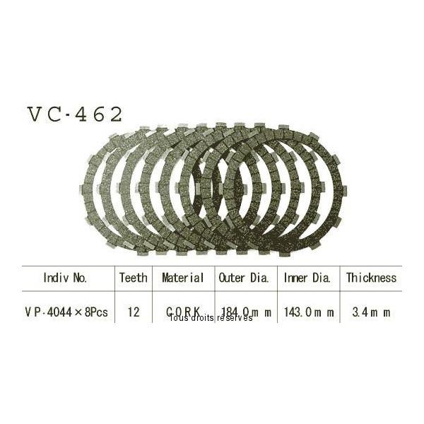 Disques garnis d'embrayage VC462