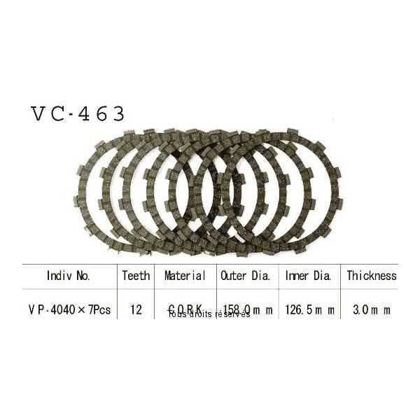 Disques garnis d'embrayage VC463