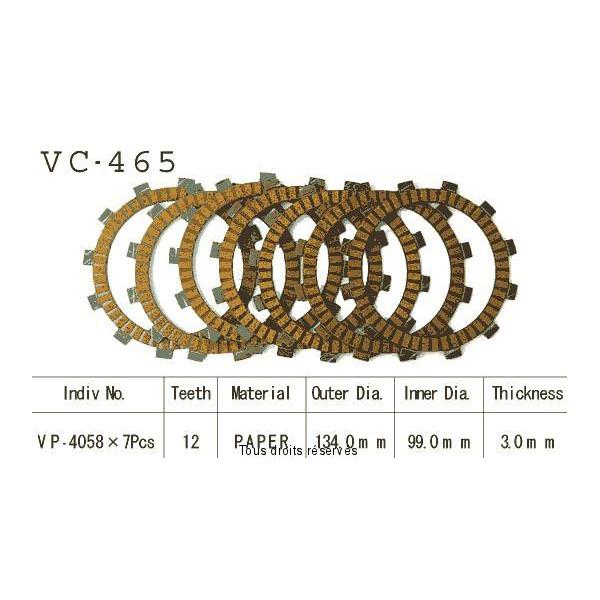 Disques garnis d'embrayage VC465