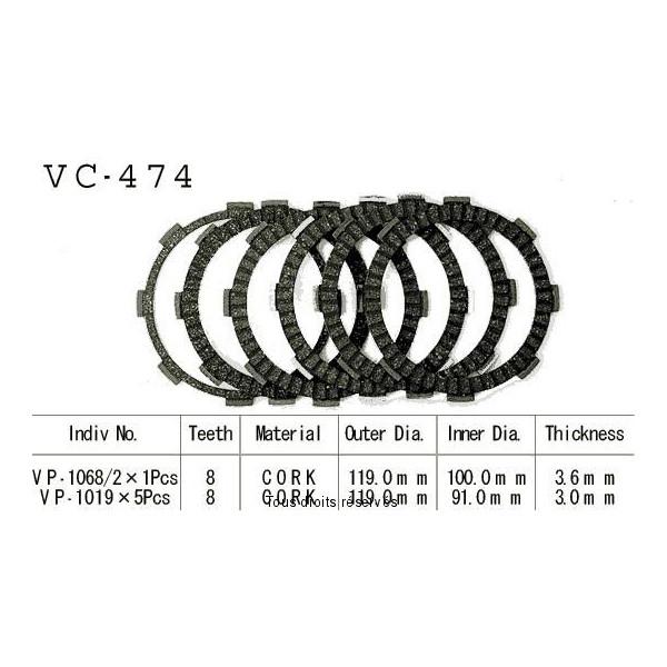Disques garnis d'embrayage VC474