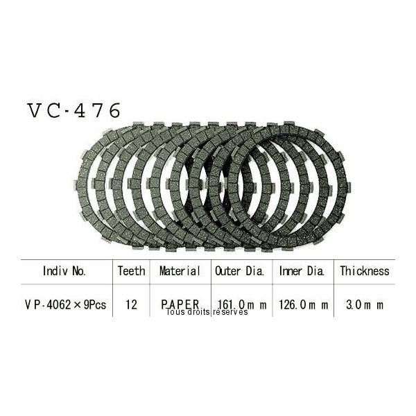 Disques garnis d'embrayage VC476