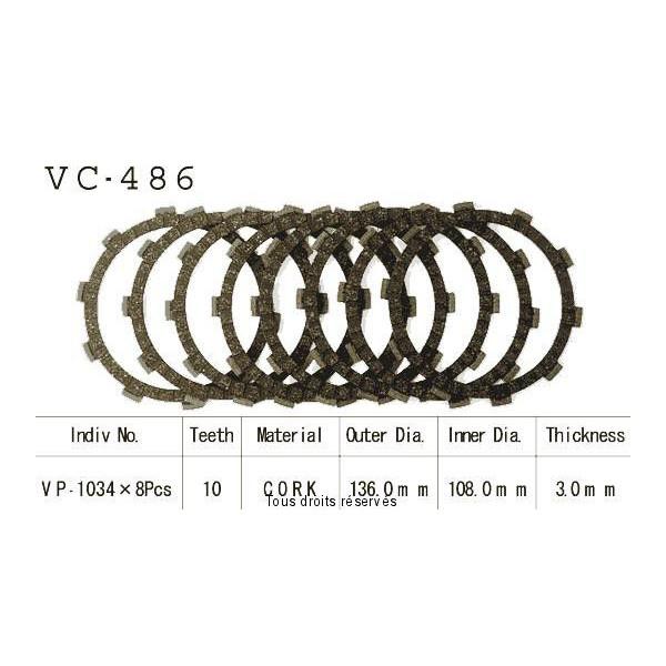 Disques garnis d'embrayage VC486