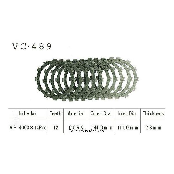Disques garnis d'embrayage VC489