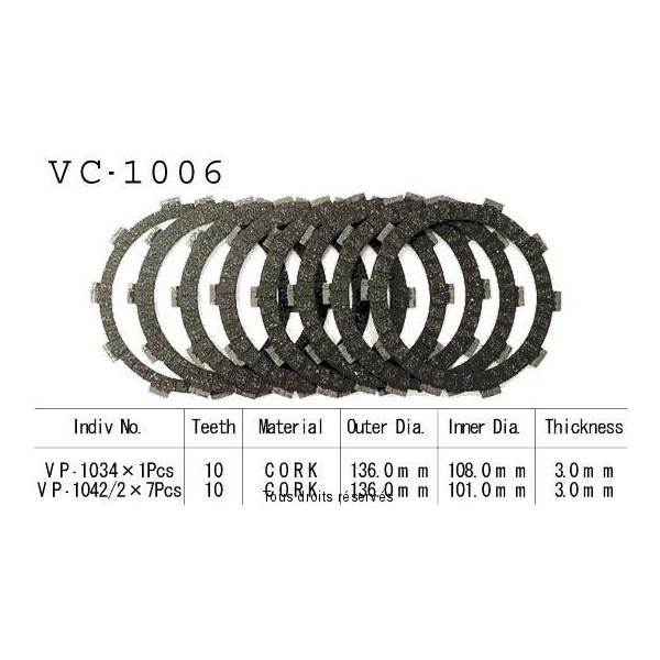 Disques garnis d'embrayage VC1006