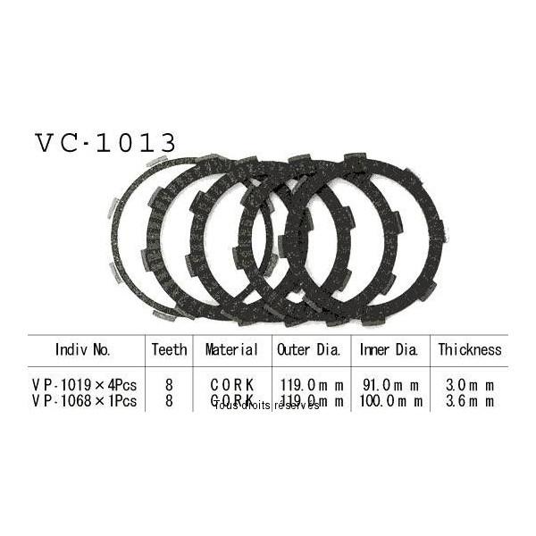 Disques garnis d'embrayage VC1013
