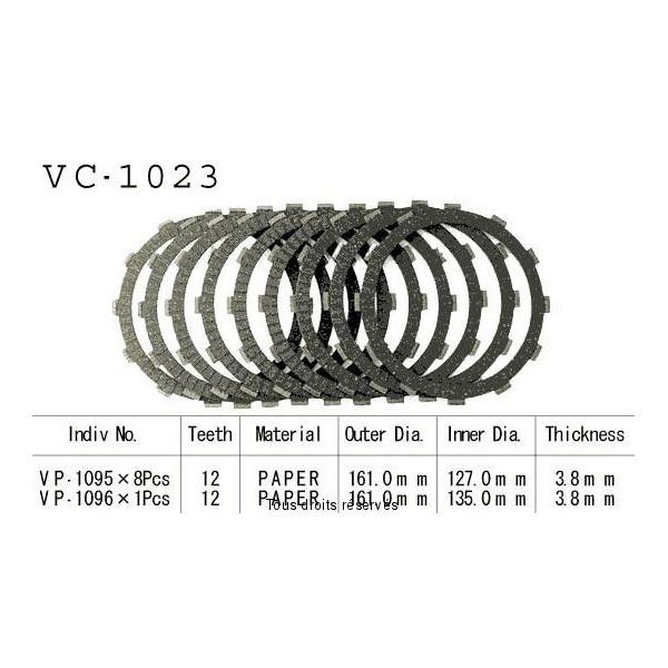 Disques garnis d'embrayage VC1023