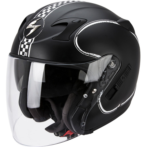 casque exo 220 air bixby scorpion moto dafy moto casque jet de moto. Black Bedroom Furniture Sets. Home Design Ideas