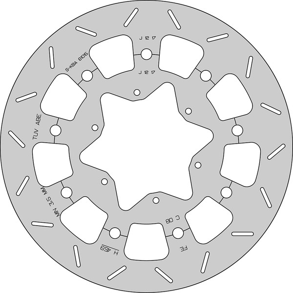 Disque de frein FE.FLAH459