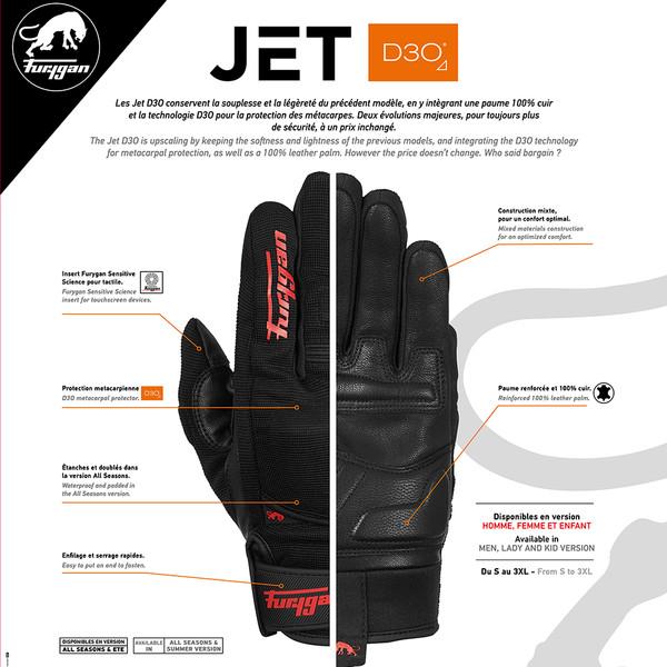 Gants Jet D3O