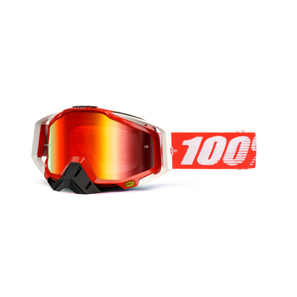 Masque Racecraft Fire Red Mirror Lens