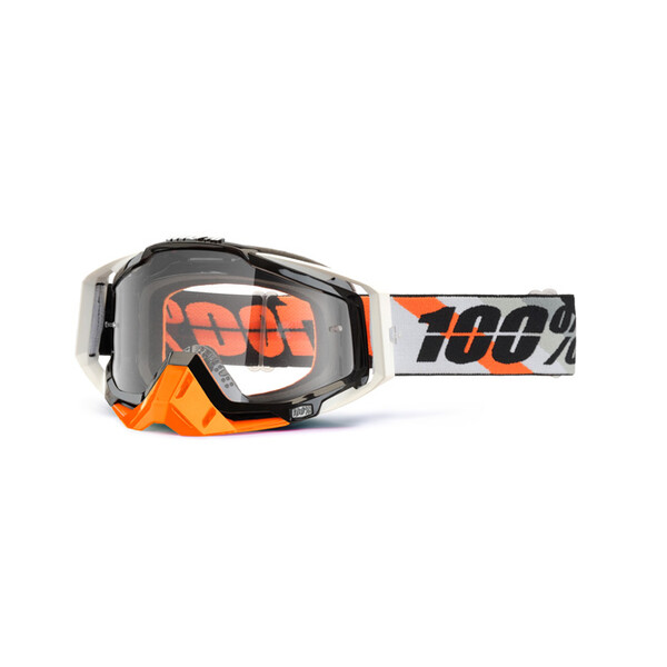 Masque Racecraft Prium Orange Clear Lens