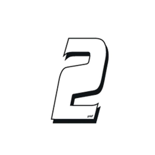Numéro Autocollant Cross 2