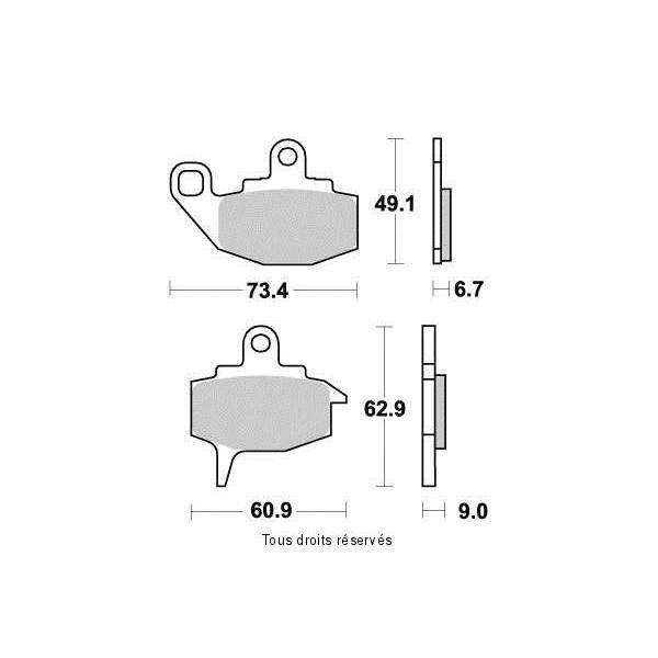 Plaquettes de frein S1042N