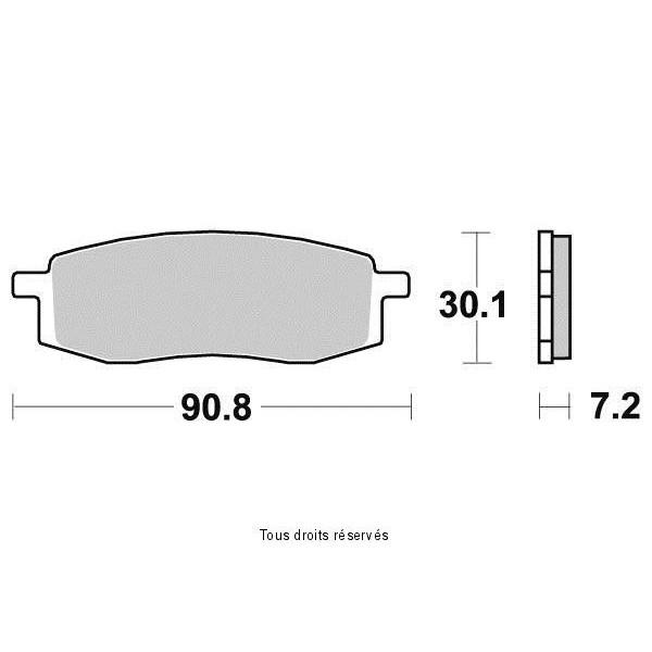 Plaquettes de frein S1241N