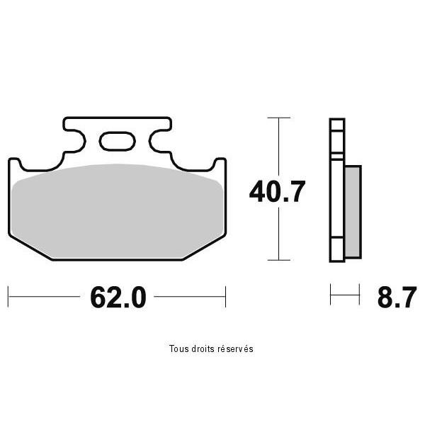 Plaquettes de frein S1037AN
