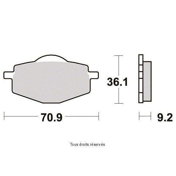 Plaquettes de frein S1081N