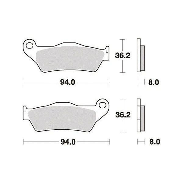 Plaquettes de frein S1082N