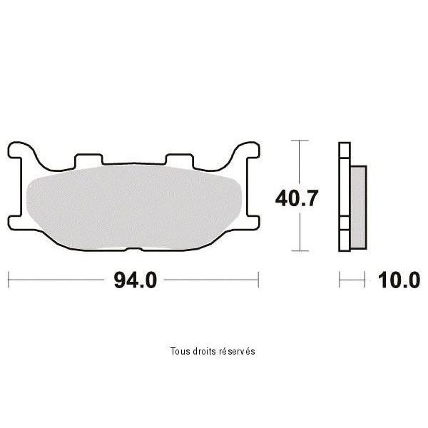 Plaquettes de frein S1109N