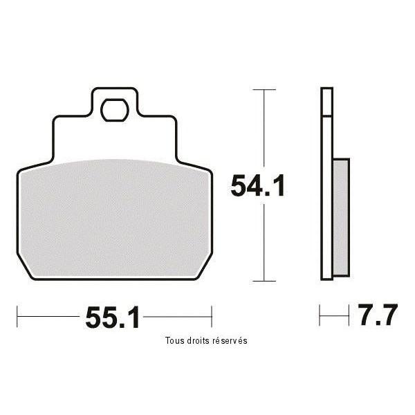Plaquettes de frein S1122N