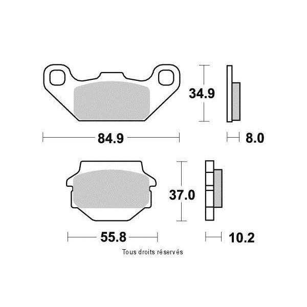 Plaquettes de frein S1332N