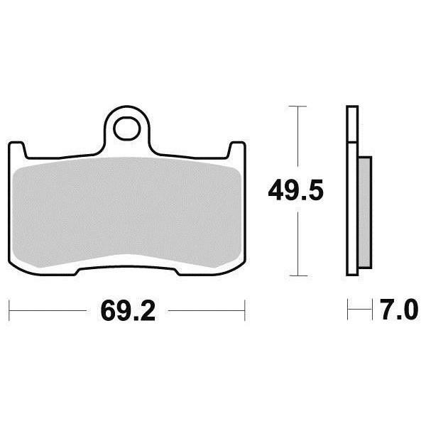 Plaquettes de frein S1443N