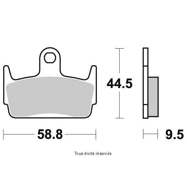Plaquettes de frein S1962N