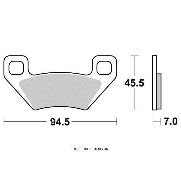 Plaquettes de frein S9023N