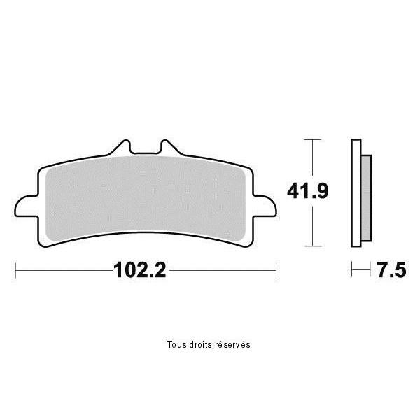 Plaquettes de frein S9100N