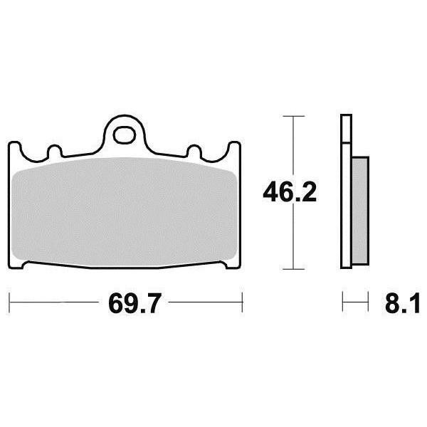 Plaquettes de frein S1032N