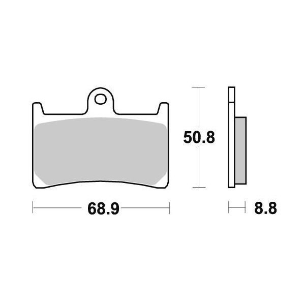 Plaquettes de frein S1033N