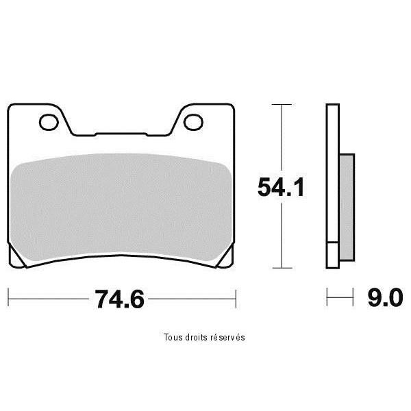 Plaquettes de frein S1034N