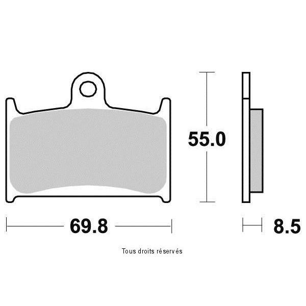 Plaquettes de frein S1049BN
