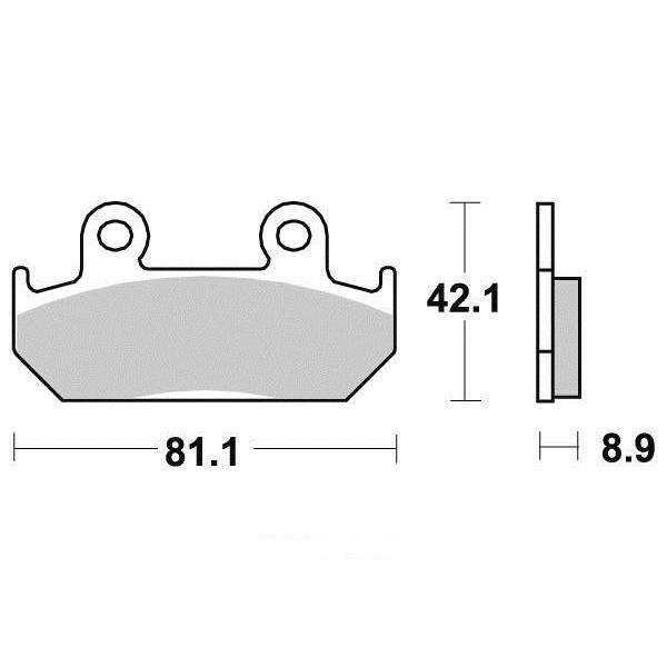 Plaquettes de frein S1051N