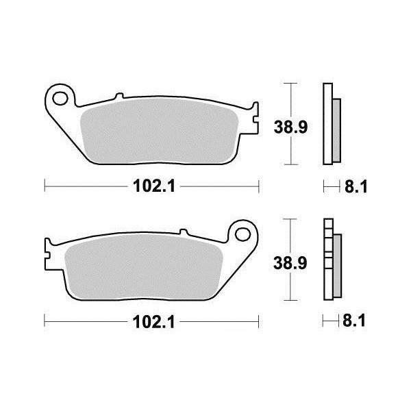 Plaquettes de frein S1071N