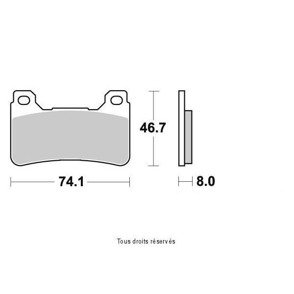 Plaquettes de frein S1170N