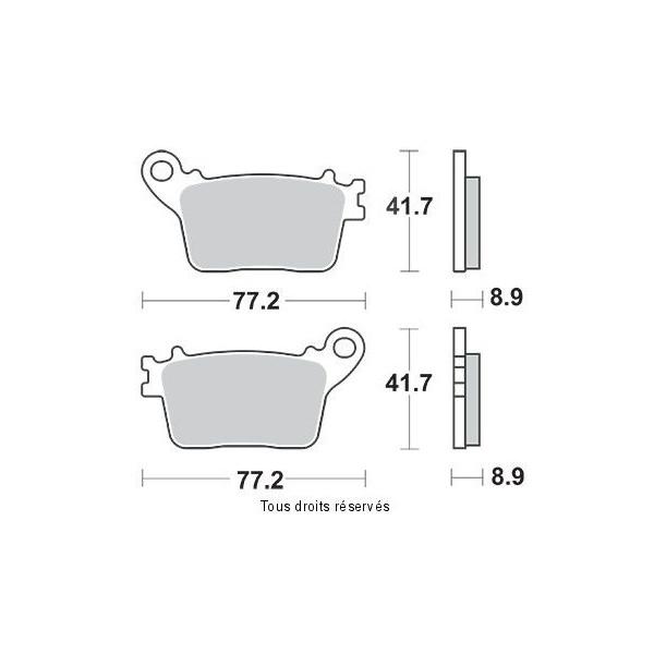 Plaquettes de frein S1174N