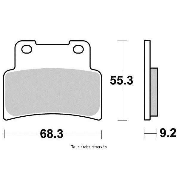 Plaquettes de frein S1191N