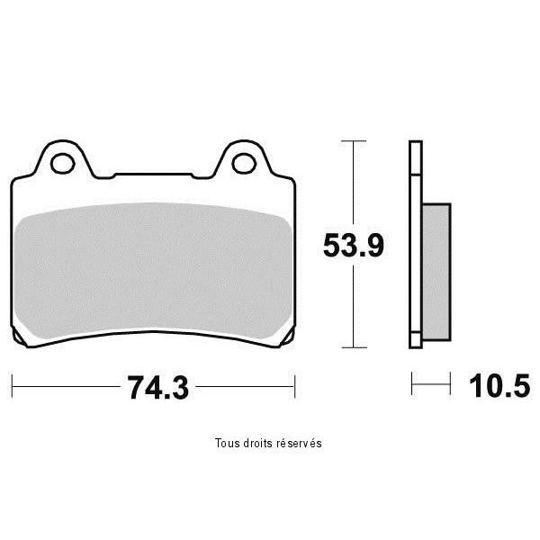 Plaquettes de frein S1242AN