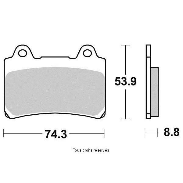 Plaquettes de frein S1242N