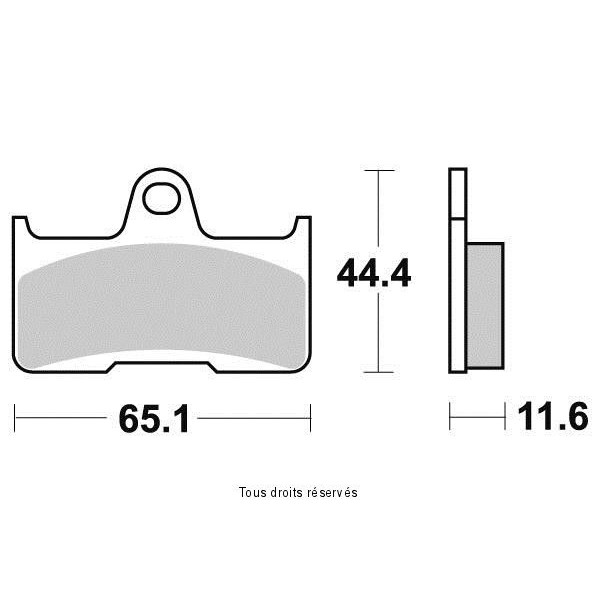 Plaquettes de frein S1270N