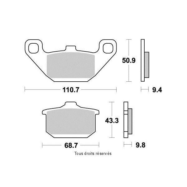 Plaquettes de frein S1002N