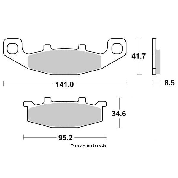 Plaquettes de frein S1004AN