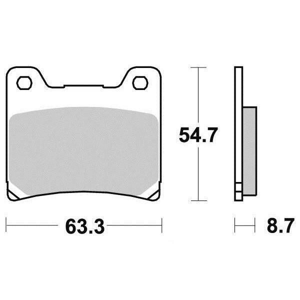 Plaquettes de frein S1007N