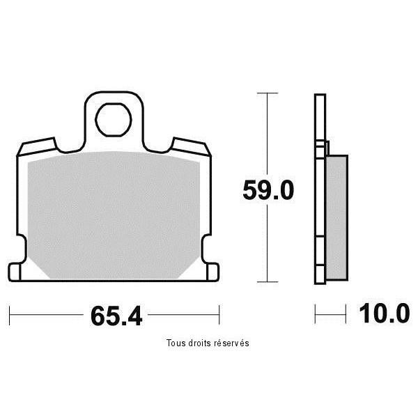Plaquettes de frein S1013N