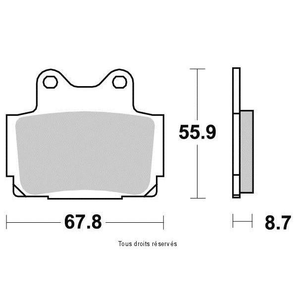 Plaquettes de frein S1024N