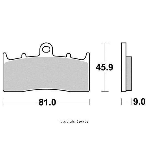 Plaquettes de frein S1439N