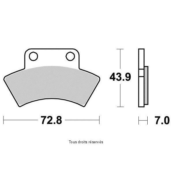 Plaquettes de frein S1950N